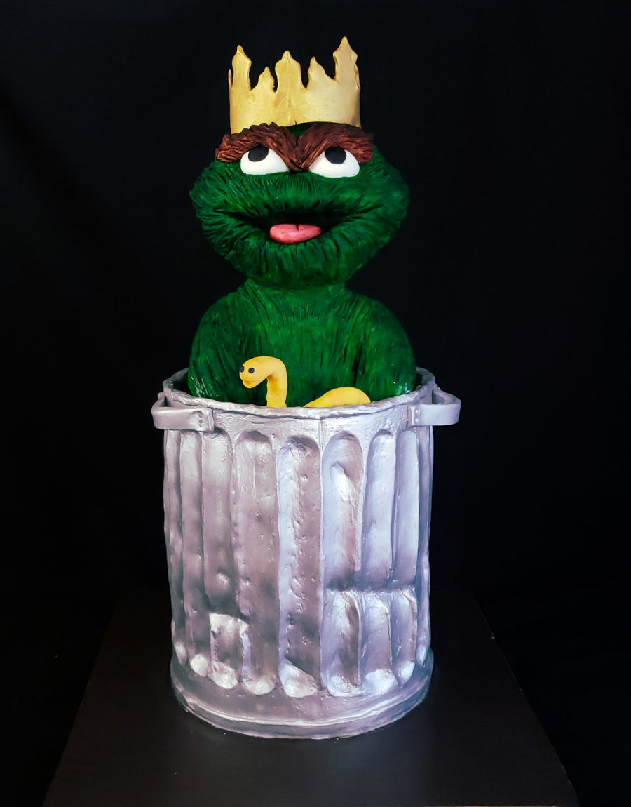 Oscar The Grouch Cake on Cake Central