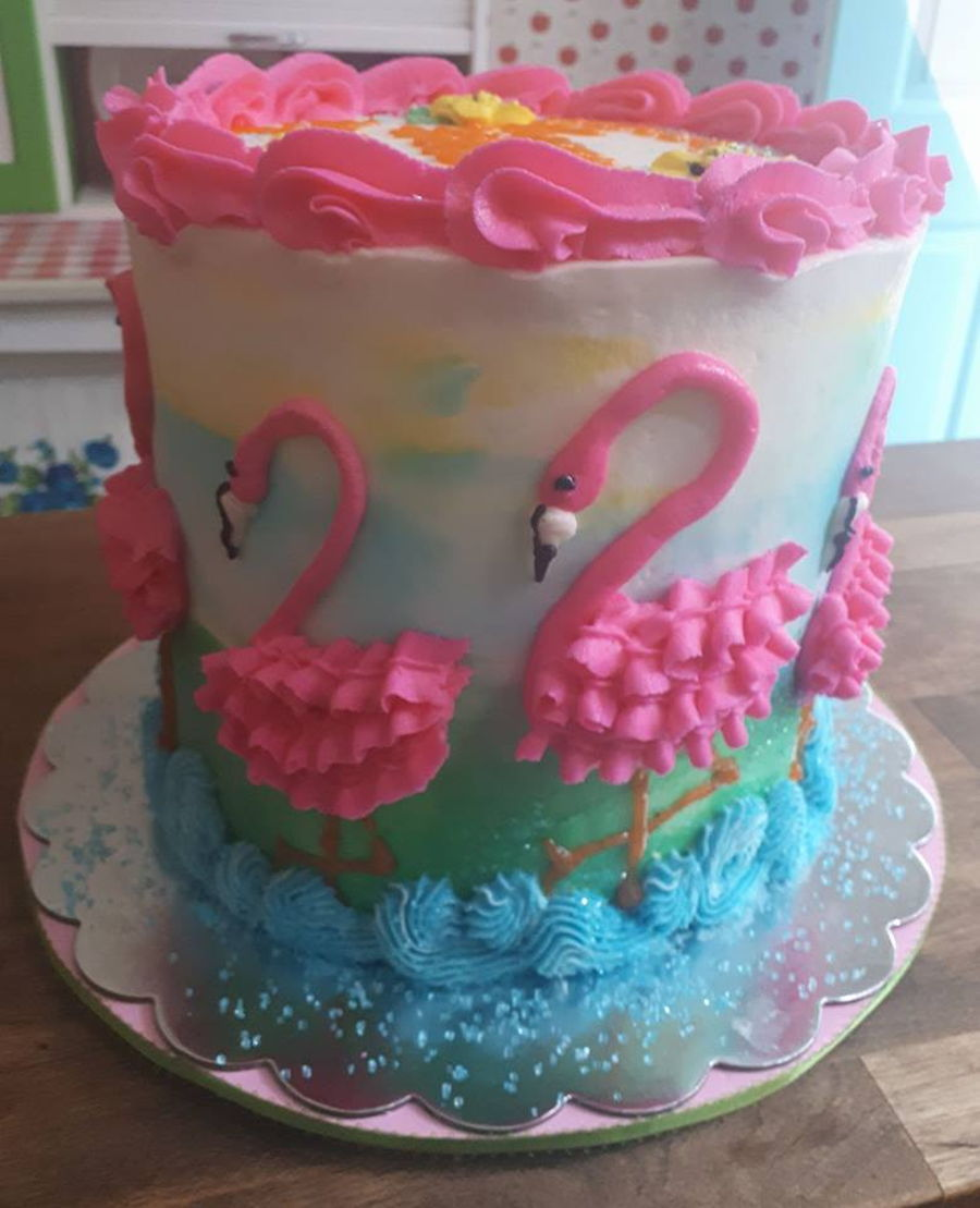 Pink Flamingo Cake on Cake Central