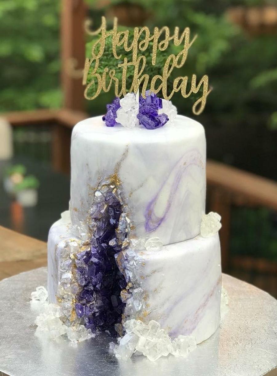 Purple Amethyst Geode Cake Cakecentral Com