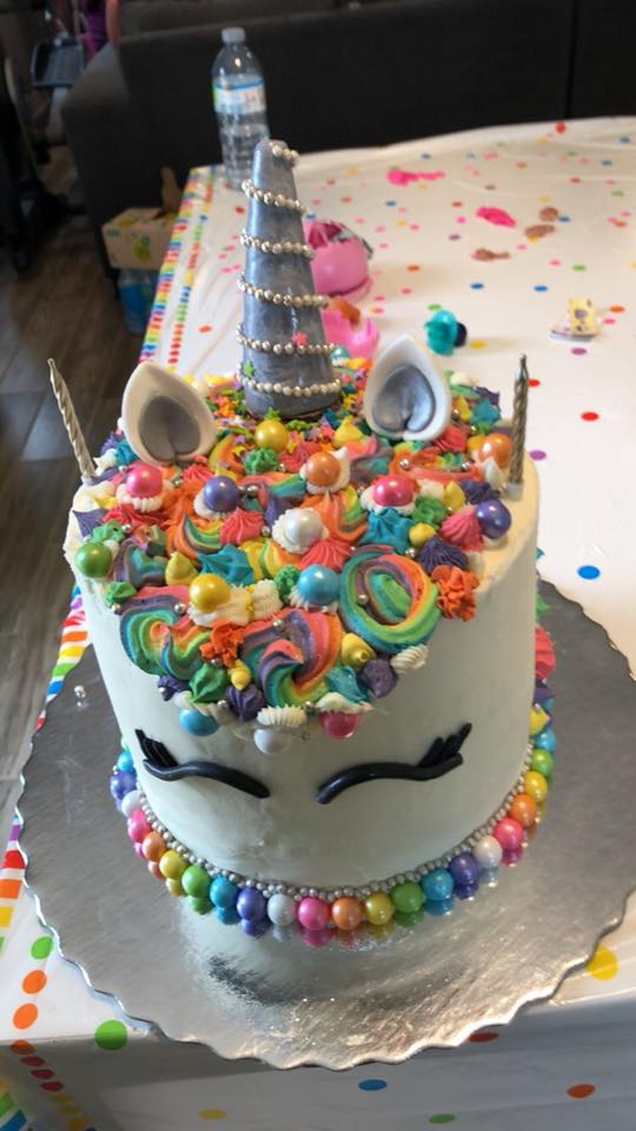 Superb Rainbow Unicorn Cake Surprise Cakecentral Com Funny Birthday Cards Online Amentibdeldamsfinfo