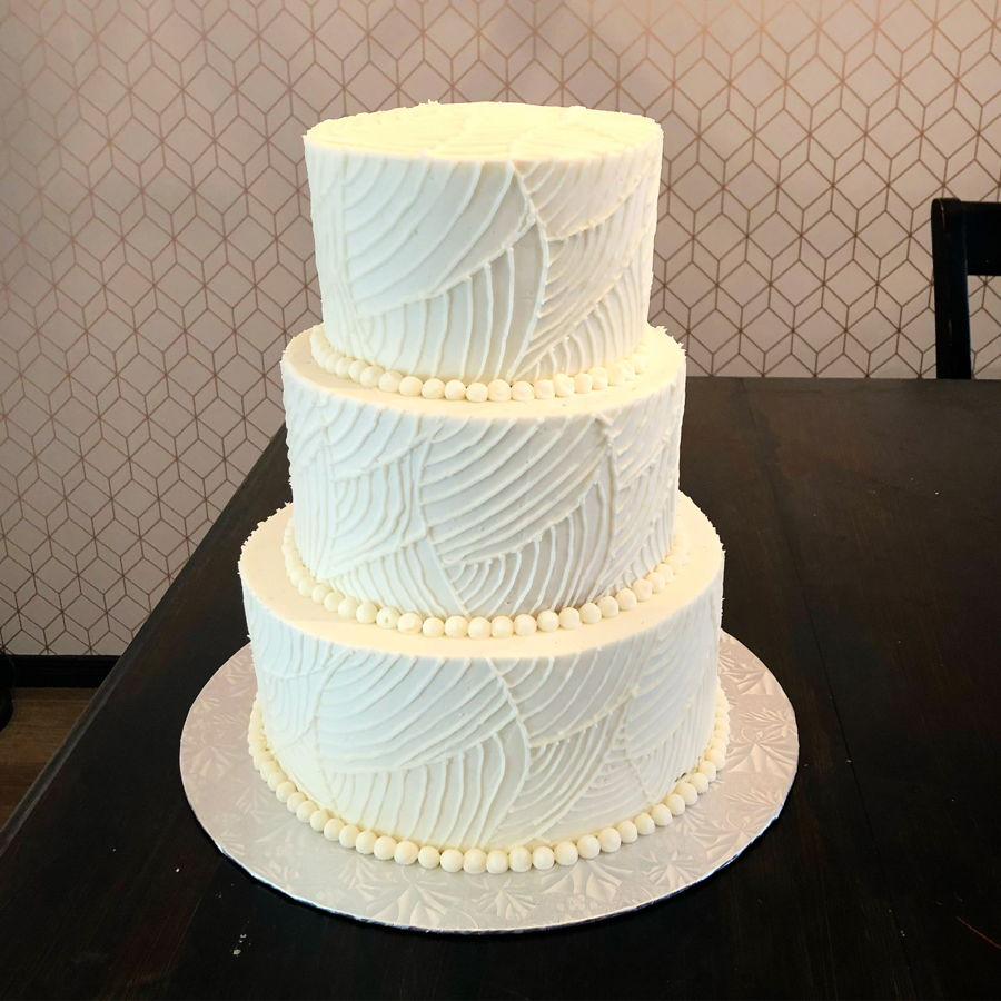 Simple Wedding Cakes: Simple Buttercream Wedding Cake