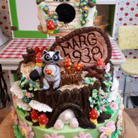 80Th Birthday Cake Birthday cake for a lady who like to feed the critters