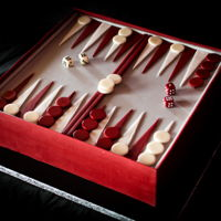 Backgammon Made for my Dad's 70th because we bond through backgammon!