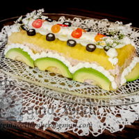 Causa Limeña, Not A Very Sweet Cake! As weird as it might look or sound, a cake decorator will be happy decorating anything!Well, this is my contribution for those who think...