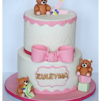 Cuddle Bear Cake. 2nd B'day Cake.