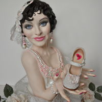 """gatsby Bride"" Made for the Sweet Easy Collaboration, which introduced the Drageekiss, my Gatsby Bride is made of rice cereal treats and modeling..."