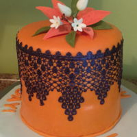 Joanne's Birthday Cake 2018 A cake for a friend's birthday. Made in orange which is the color for supporting people and research of kidney cancer.