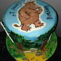 'oh Help, Oh No, It's A Gruffalo Cake' Hand painted Gruffalo birthday cake