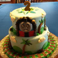 Thomas The Tank Engine - 2Nd Birthday Cake This was a cake I made for my grandson's 2nd birthday.