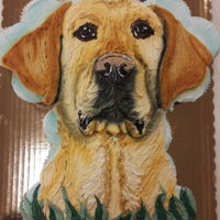 Yellow Lab Pull Apart Cupcakes 24 cupcakes decorated with buttercream frosting to look like a yellow lab. Airbrushed shadowed areas