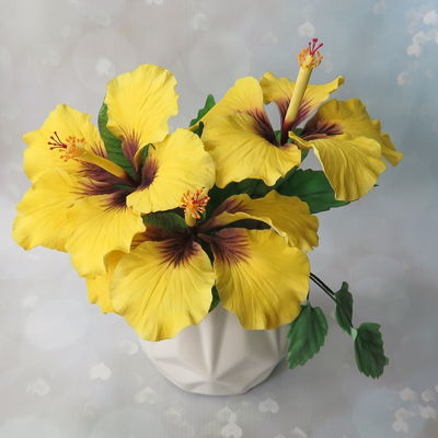 Yellow Hibiscus Sugar Flowers