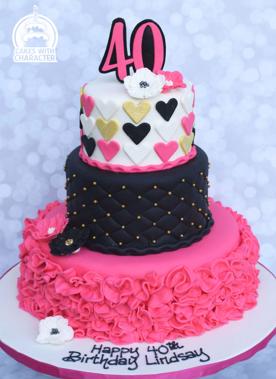 Pretty In Pink 40Th Birthday On Cake Central