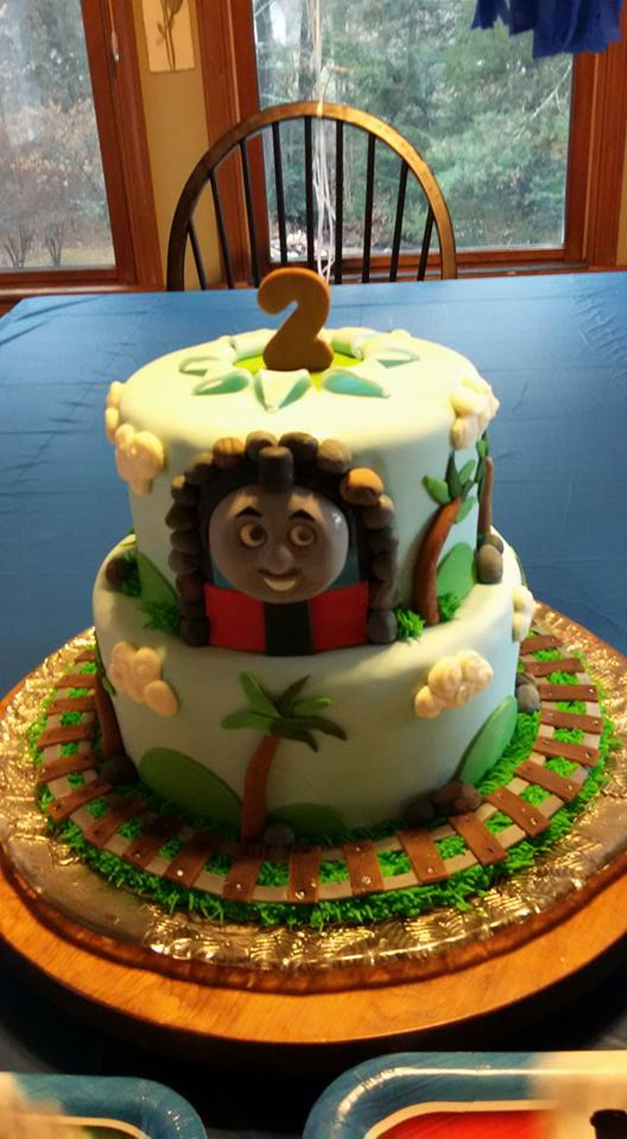Thomas The Tank Engine - 2Nd Birthday Cake on Cake Central