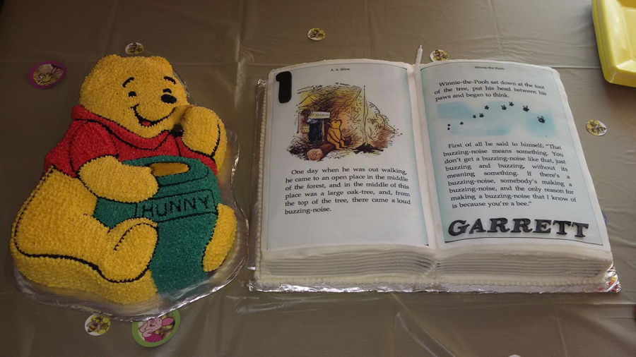 Winnie The Pooh & Book on Cake Central