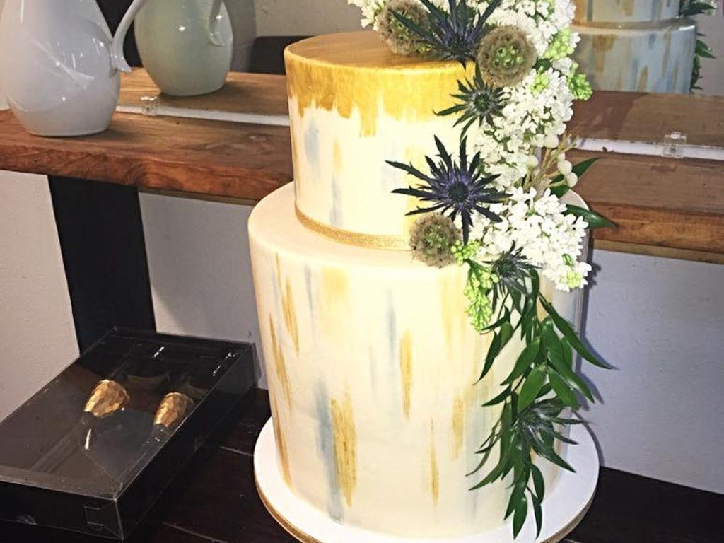 Double Barrel Wedding Cake - CakeCentral.com