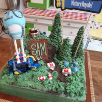 Fortnite Cake fortnite cake made for a 10 year old's birthday