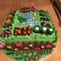 Garden Cake I had so much fun making this cake, loved every minute of it, everything edible