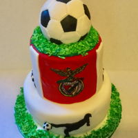 Hubby'S Birthday Cake This was for my husband's 60th birthday. He loves soccer and his favorite team is Benfica. It was a surprise party so had to make...