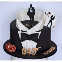 James Bond Cake! James Bond Themed 40th B'day Celebration..