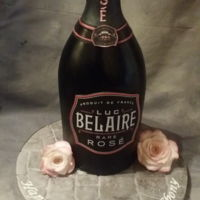 Luc Belaire Rose Bottle Rose bottle. Made entirely from confetti cake and fondant