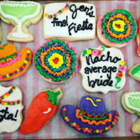 Fiesta Cookies! Fiesta themed cookies to celebrate a bachelorette party!