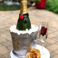 Moet Cake Moet bottle on ice bucket