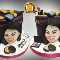 Portrait & Bag Cake Hand painted Portrait & Bag cake Pin one!