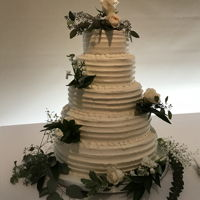 Simple Elegance Wedding Cake All buttercream fast and easy wedding cake.