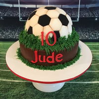 Soccer Ball Chocolate cookies and cream cake