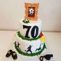 Soccer Cake Birthday cake for my dad's 70th birthday. He was a soccer player and referee!!