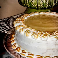 Soursop Cake A traditional cake from tropical countries... as soursop is really hard to find anywhere else!This particular version has layers of sponge...