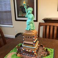 Statue Of Liberty Fondant Lady Liberty on a gingerbread base. Made for our town's yearly fair.