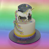 Unicorn Birthday Cake A white chocolate and raspberry mud cake filled with raspberry ganache and iced with fondant. Nearly died when asked for a 3D unicorn!!...