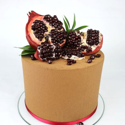 Cake With Sugar Pomegranate