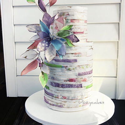 Shabby Chic Wafer Paper Cake