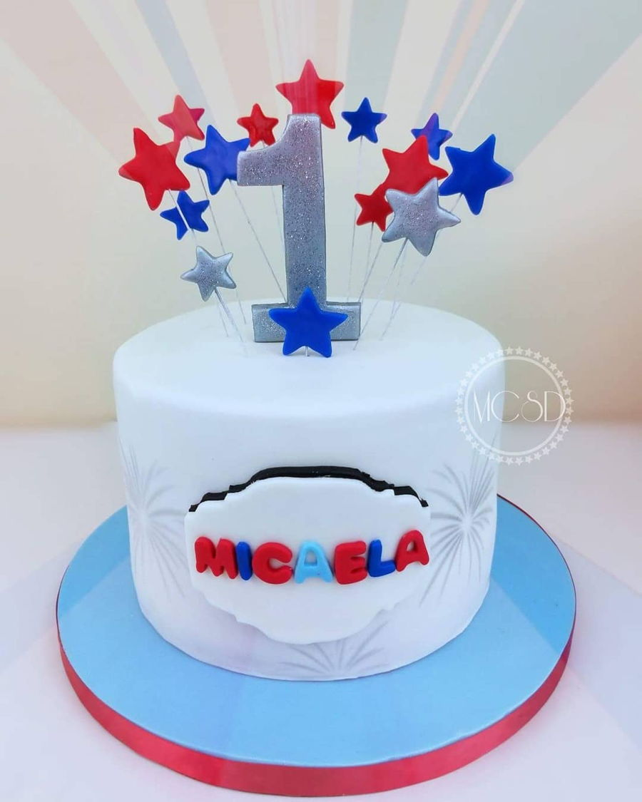 4Th Of July Themed 1St Birthday Cake on Cake Central