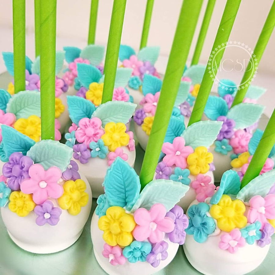 Enchanted Garden Cake Pops on Cake Central
