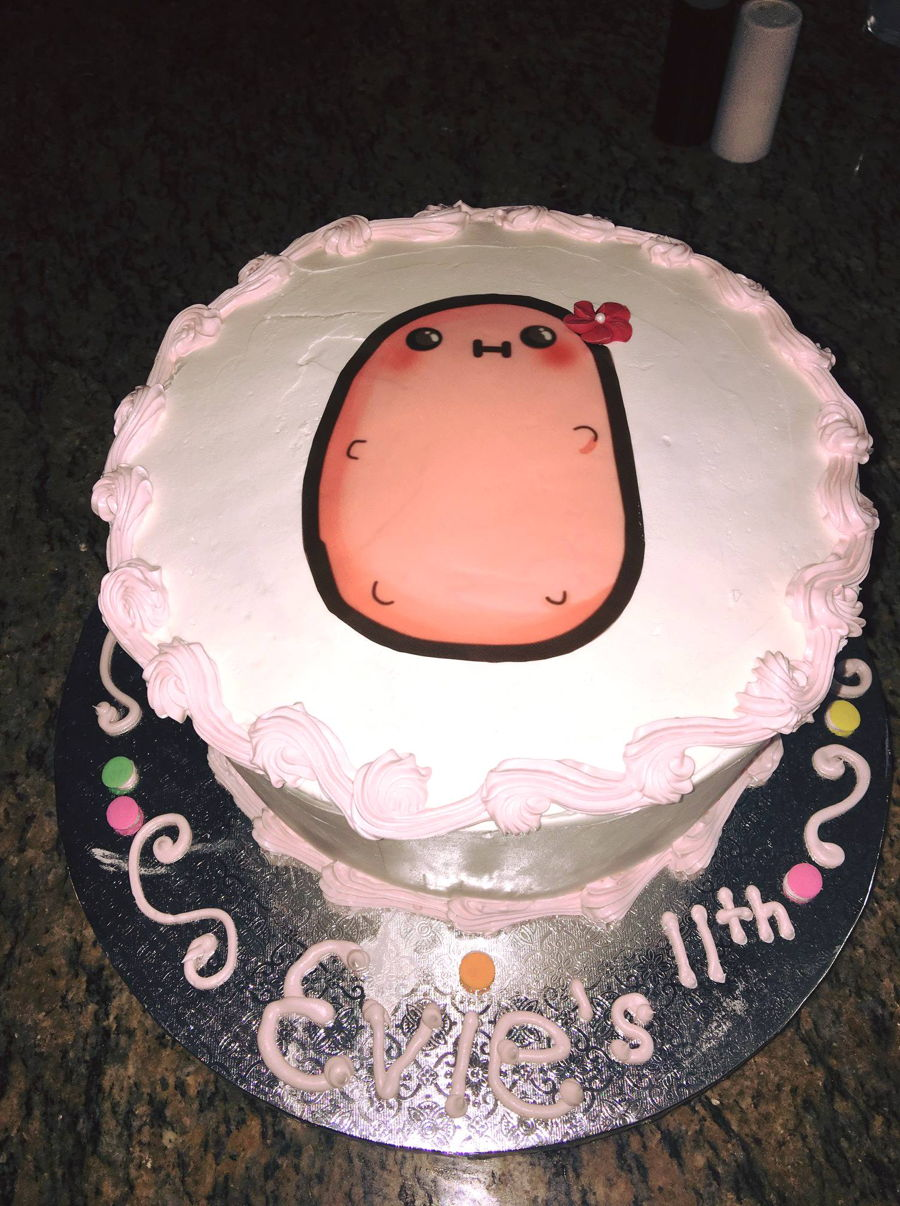 Strange Kawaii Potato Cake Cakecentral Com Personalised Birthday Cards Veneteletsinfo