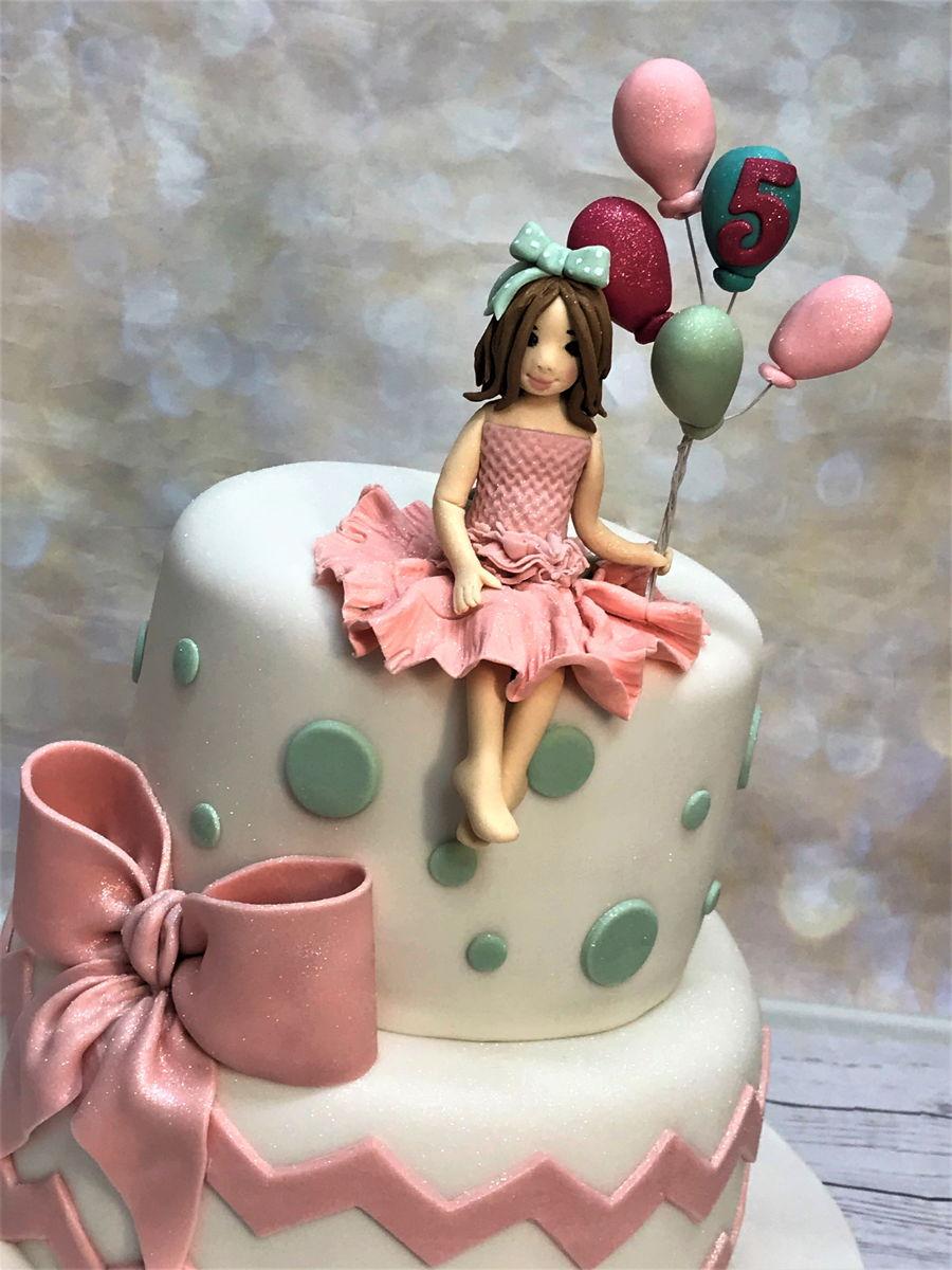 Peachy Little Girl Birthday Cake Cakecentral Com Personalised Birthday Cards Veneteletsinfo