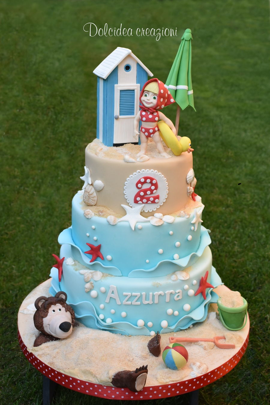Masha And The Bear On The Beach on Cake Central