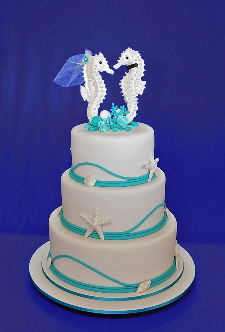 Seahorse Wedding Cake Cakecentral Com