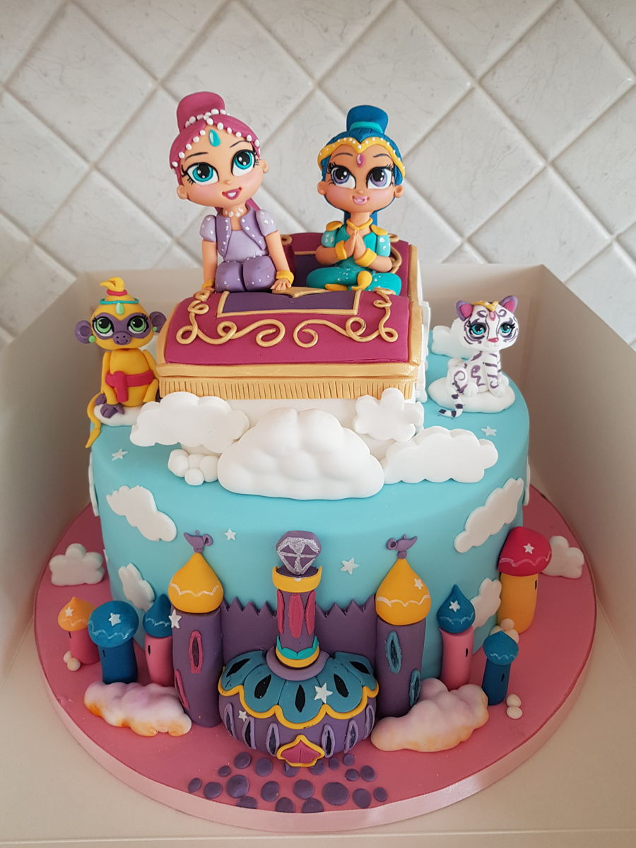Shimmer And Shine Cake Cakecentral Com