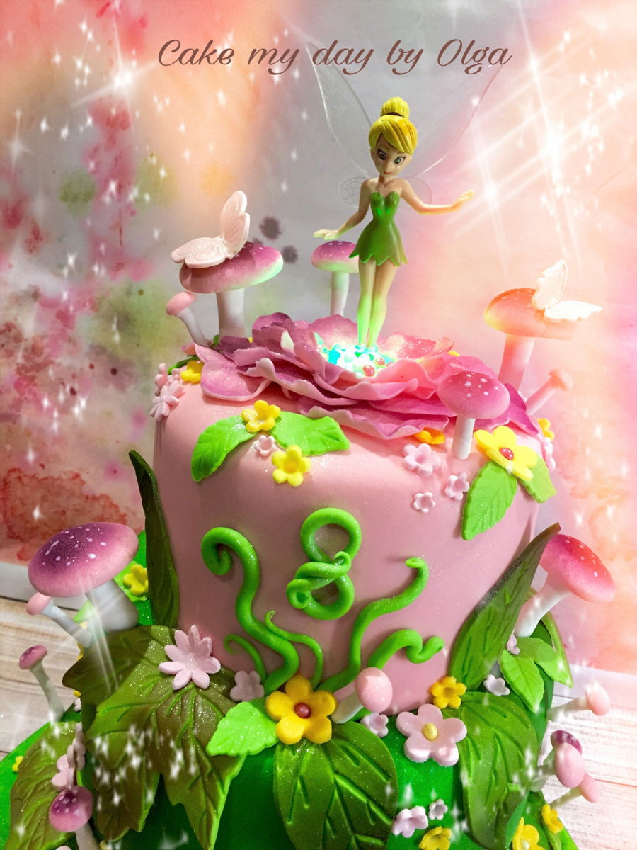 Strange Tinkerbell Birthday Cake Cakecentral Com Personalised Birthday Cards Cominlily Jamesorg