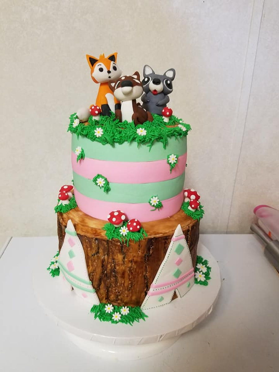 Woodland Themed Baby Shower Cake Cakecentral