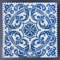 Blue Tile | Sweet Prodigy I saw some porcelain tile cookies online and just had to make my own version. This pattern is 90 x 90 (or 180 lines and 8100 dots)....