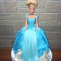 Cinderella Doll Cake Cinderella doll with fondant dress. I don't do many fondant cakes, it's been awhile!