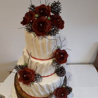 December Themed Wedding Cake From Last Year Sadly the groom jilted his bride te day before the Wedding, leaving my dear friend and their 2 kids and everyone concerned devastated...