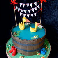Gonnie And Gijsje Cake This was so much fun to make. Gonnie and Gijsje swimming in a tub.I based the design on a page from the books. Buttercream cake with the...