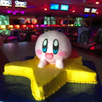 Kirby Riding The Warp Star Buttercream frosted with fondant details. Made for my grandson turning 9. He loves the video game.
