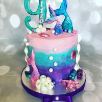 Mermaid Tails small little mermaid cake for my neice